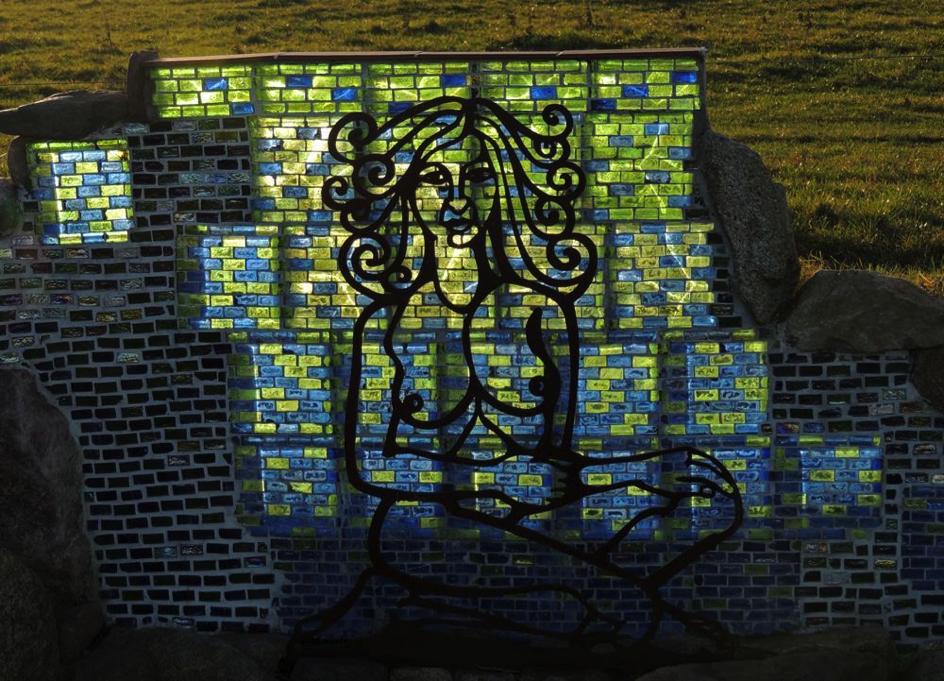 """""""Sabine im Spiegelschloss"""", Detail im Gegenlicht"""